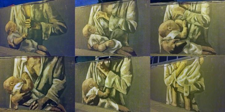 Arte y Lactancia Materna en las calles de Barcelona