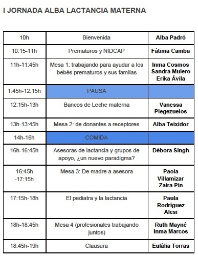 programa I jornada ALBA - SMLM 2017